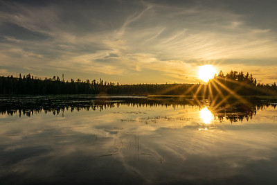 """September Sunset, Merganser Lake"""