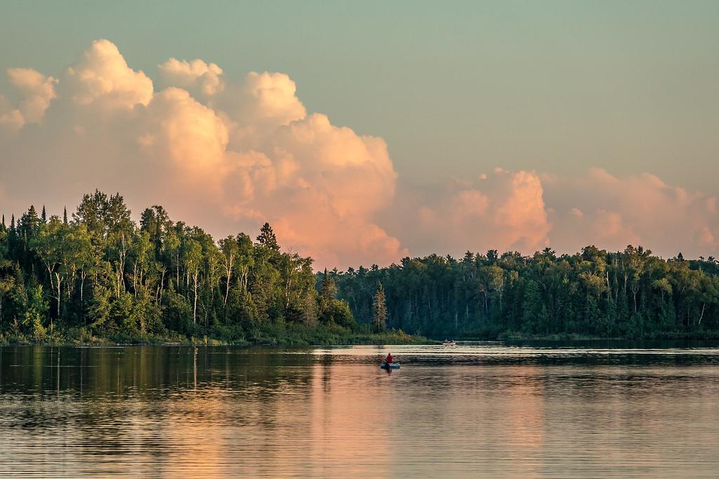 "LAKES 00772<br /> <br /> ""Dusk on Crescent Lake""<br /> <br /> Superior National Forest"