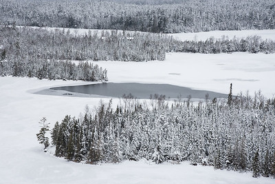 "LAKES 5527  ""Winter Wonderland - Hungry Jack Lake""  Gunflint Trail, MN"
