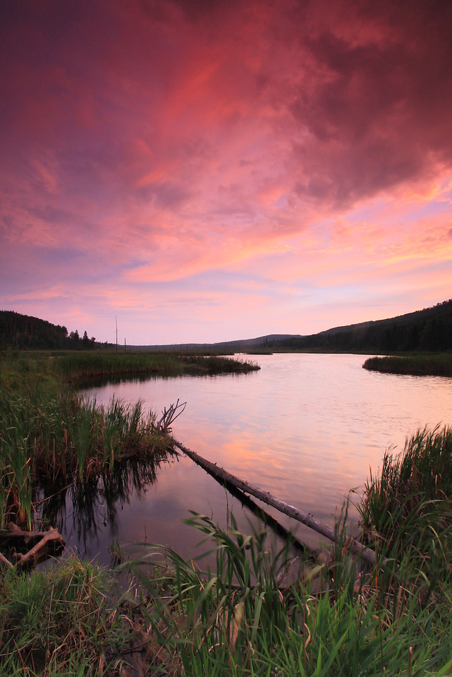"LAKES 3359<br /> <br /> ""August sunset over Dutchman Lake"""