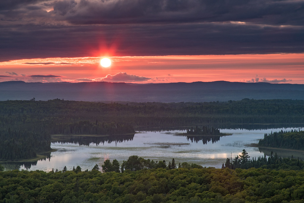"""LAKES 3080<br /> <br /> """"Late Summer Sunset""""<br /> <br /> Grand Portage, MN"""