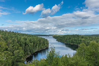"LAKES 02599  ""West Bearskin Afternoon""  West Bearskin Lake from Caribou Rock Trail - Gunflint Trail, MN"