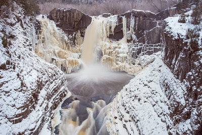 "PIGEON RIVER 5472  ""Christmas Week at High Falls""  Grand Portage State Park, MN"
