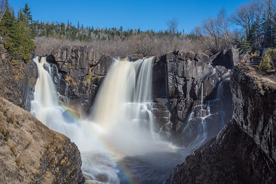 "PIGEON RIVER 4508  ""Spring at High Falls""  Grand Portage State Park, MN"