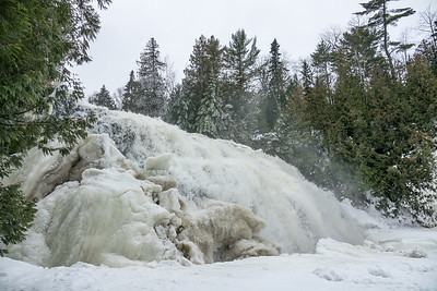 """PIGEON RIVER 00205  """"January Thaw at Partridge Falls""""  Grand Portage, MN"""
