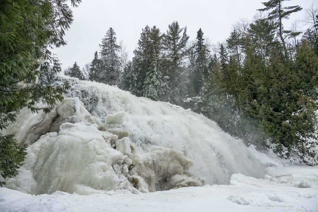 """PIGEON RIVER 00205<br /> <br /> """"January Thaw at Partridge Falls""""<br /> <br /> Grand Portage, MN"""
