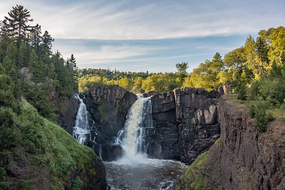 "PIGEON RIVER 02319  ""August Evening at High Falls""  Grand Portage State Park, MN"