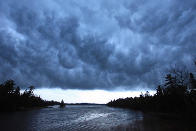 "RIVERS 7335  ""Kawishiwi Storm""  Autumn storm clouds over the Kawishiwi River near Ely, MN."