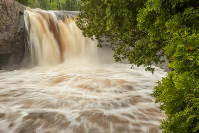 "RIVERS 7942  ""Illgen Falls, Baptism River""  Tettegouche State Park, MN"