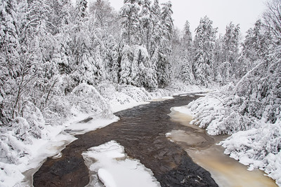 "RIVERS 5621  ""White December on the Brule River""  Gunflint Trail, MN"