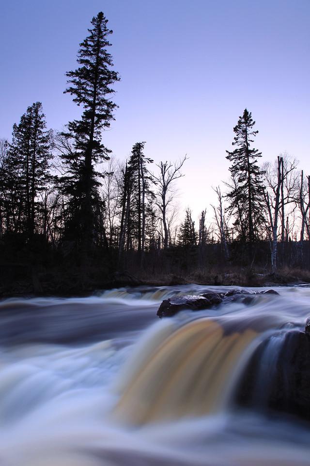 """RIVERS 0077<br /> <br /> """"Spring Sunset, Temperance River""""<br /> <br /> Temperance River State Park, MN"""