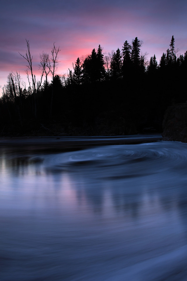 "RIVERS 9586<br /> <br /> ""Sunset Foam on the Temperance River""<br /> <br /> Temperance River State Park, MN"