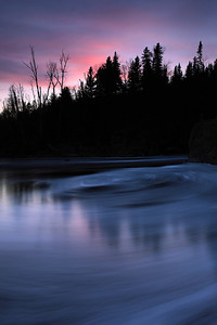 "RIVERS 9586  ""Sunset Foam on the Temperance River""  Temperance River State Park, MN"