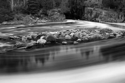 "RIVERS 5483  ""Foam Trails, Temperance River""  Temperance River State Park"