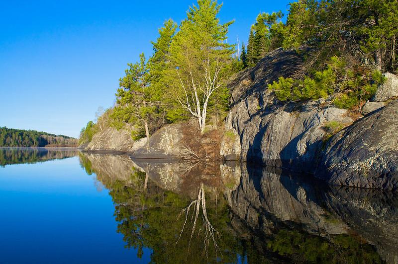 Sunrise Bass Lake Superior National Forest Mn.