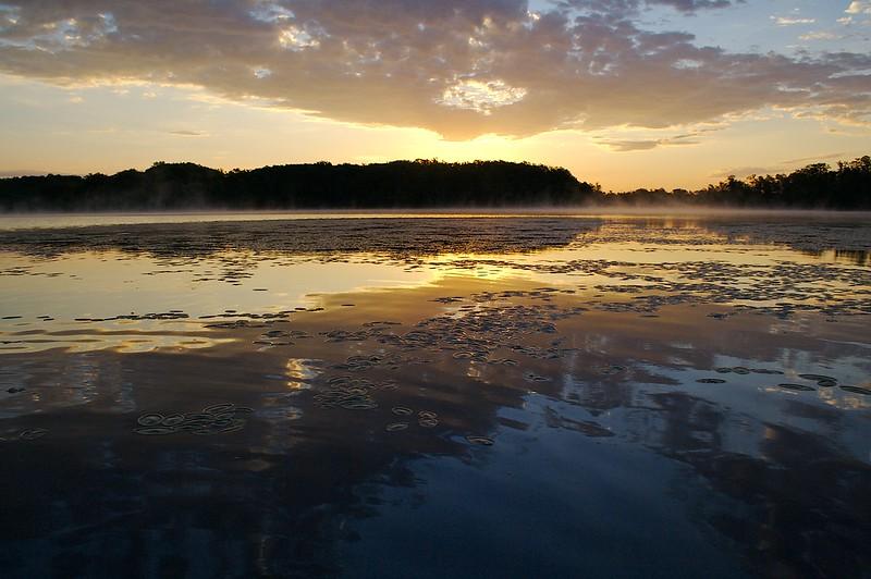 From the kayak sunrise.