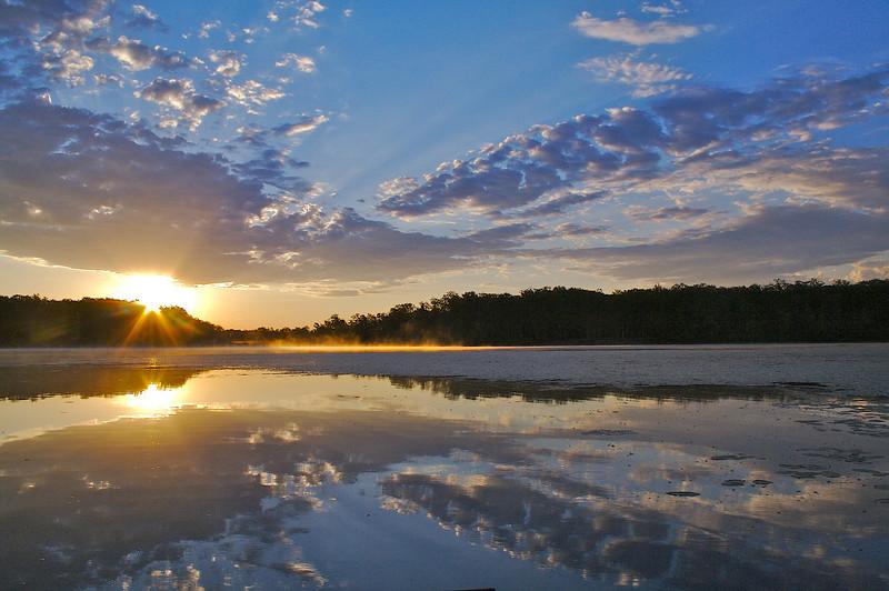 Rock Lake sunrise from the kayak.