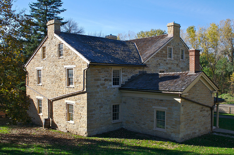 The first stone house in Minnesota 1835. It's about 100 yards out the front door to the confluence of the Mississippi  and the Minnesota Rivers.