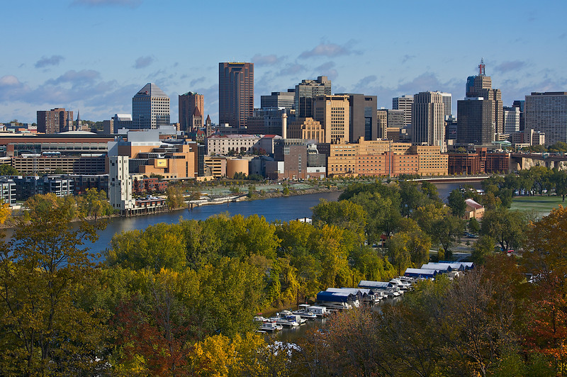 St. Paul MN. above the Mississippi River.