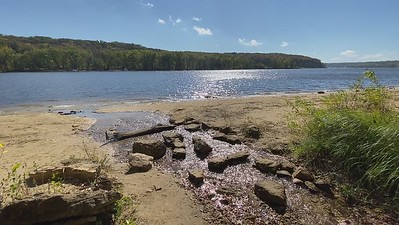 iPhone video clip of a freshwater spring flowing into the St Croix River