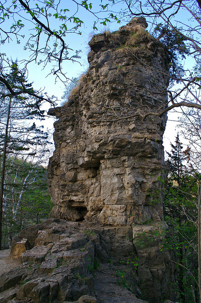Chimney Rock Whitewater State Park Minnesota.