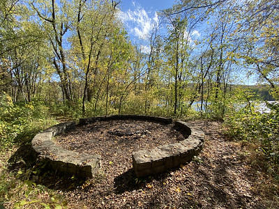 Old fire ring along to St Croix