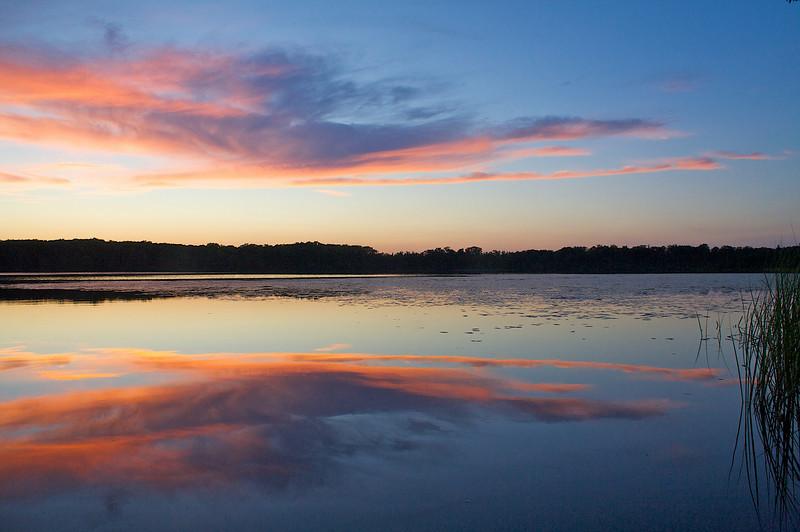 Sunset at Rock Lake.