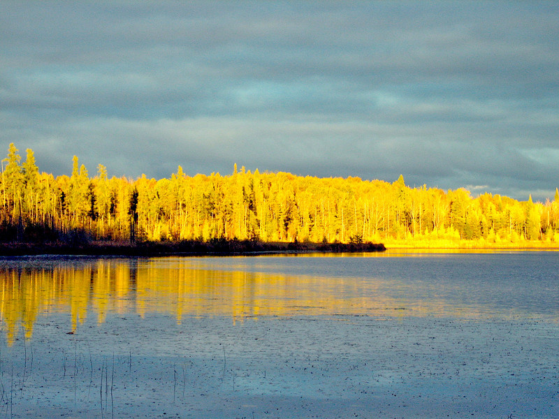 Pickerel Lake at sunset.