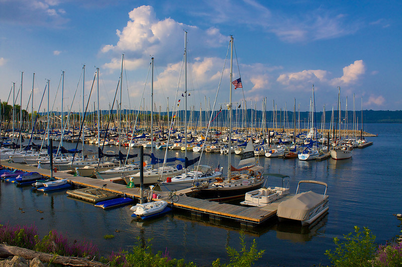 lake City Mn. Harbor on lake Pepin....Mississippi River.