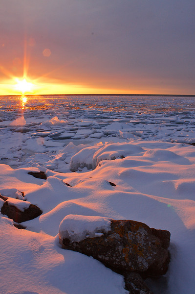 Sunrise Lake Superior.