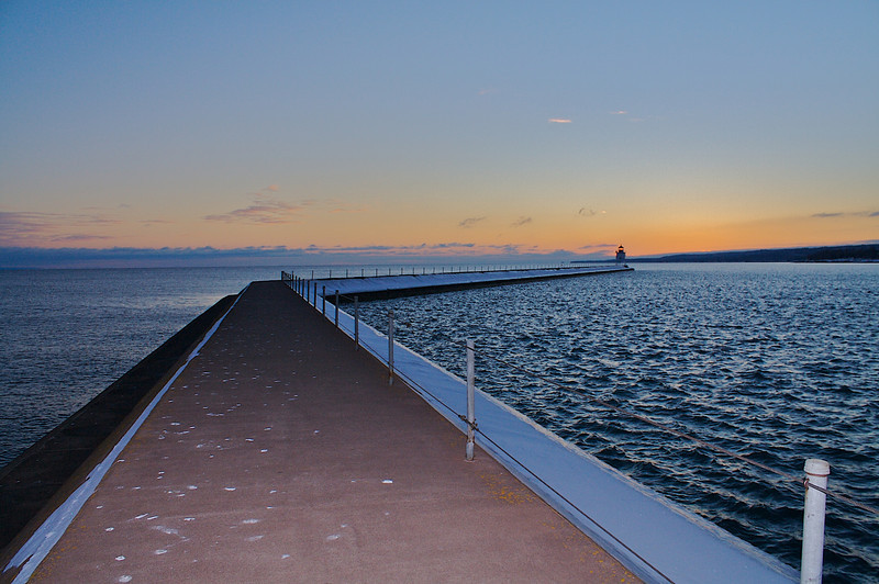 I used a speedlite here at sunset. Two Harbors MN