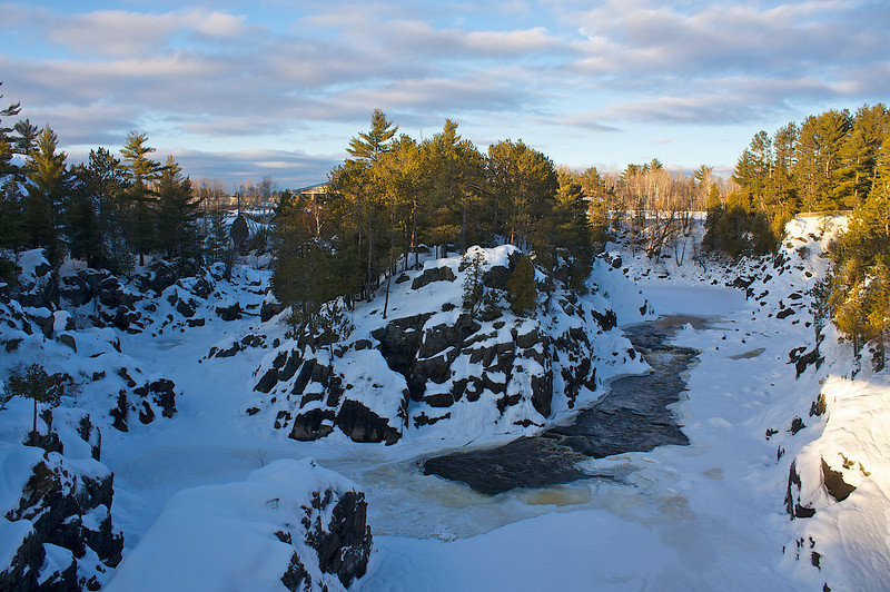 The largest tributary to Lake Superior...The St. Louis River...midwinter sunset.