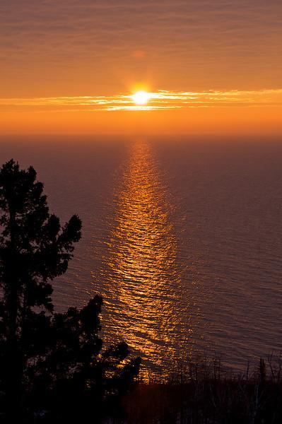 Sunrise over Lake Superior.