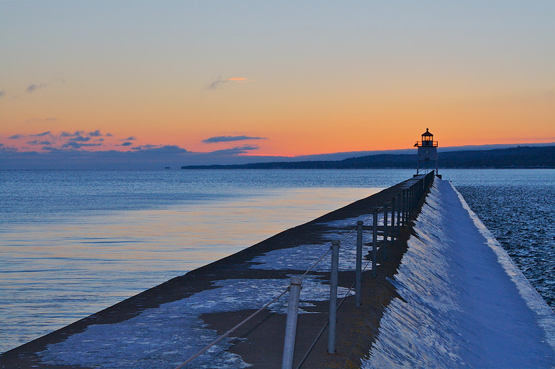 Two Harbors Breakwater and Lighthouse.