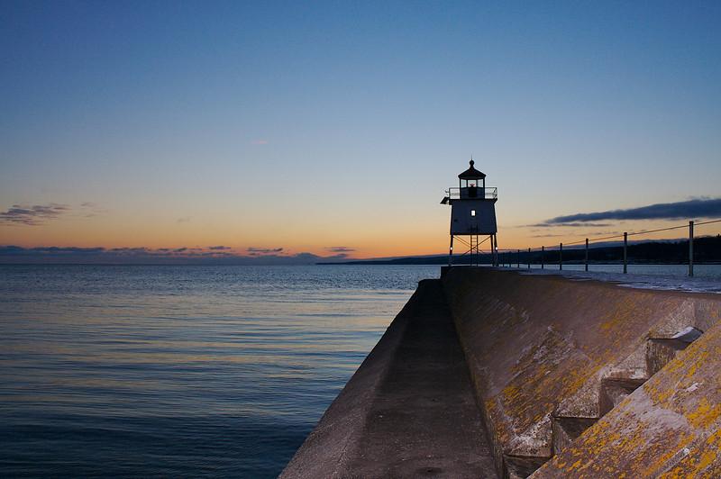 Two Harbors East Breakwater Lighthouse.
