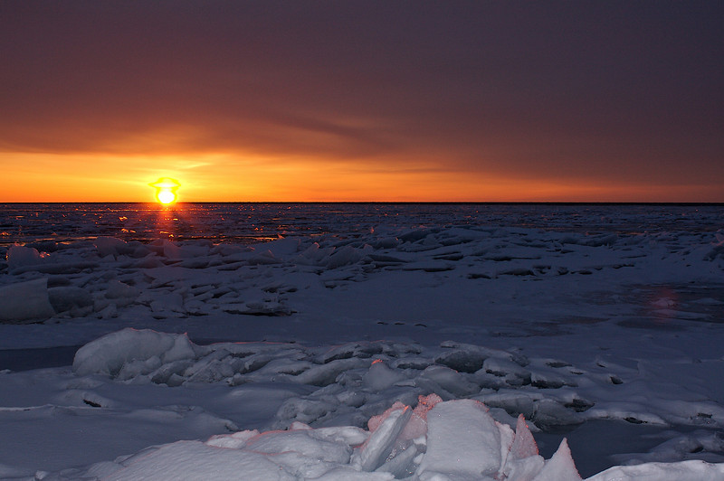 Sunrise on Lake Superior.