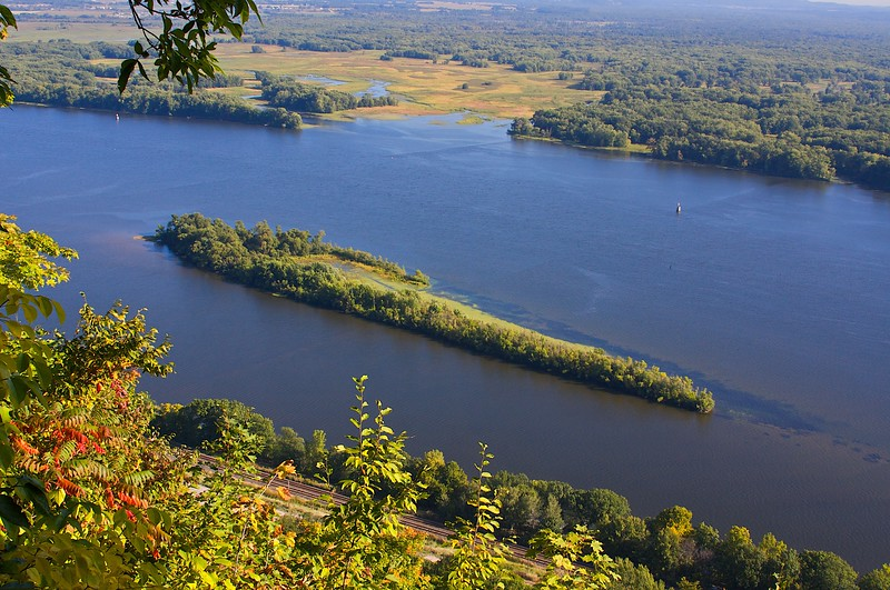 Mississippi River from Great Bluffs State Park Mn.
