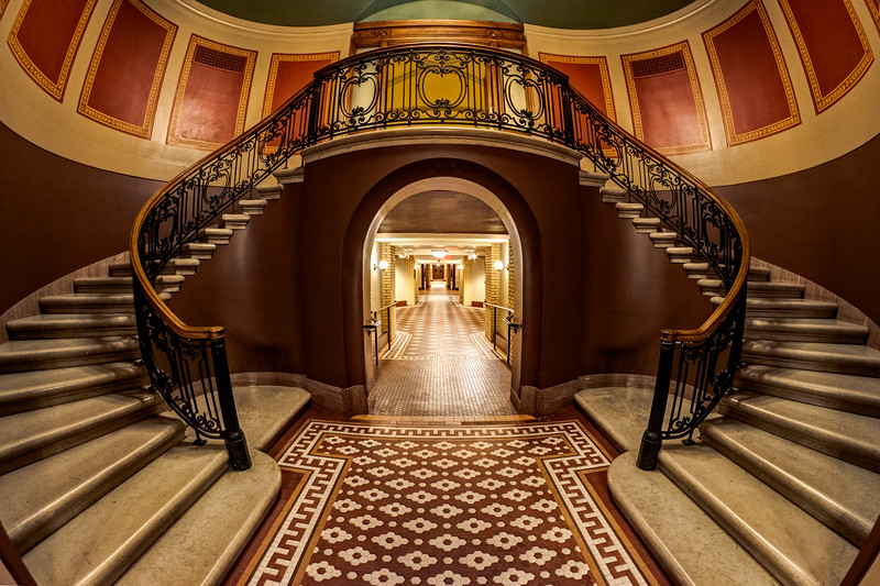 A Staircase in the Newly Renovated Minnesota State Capitol Basement