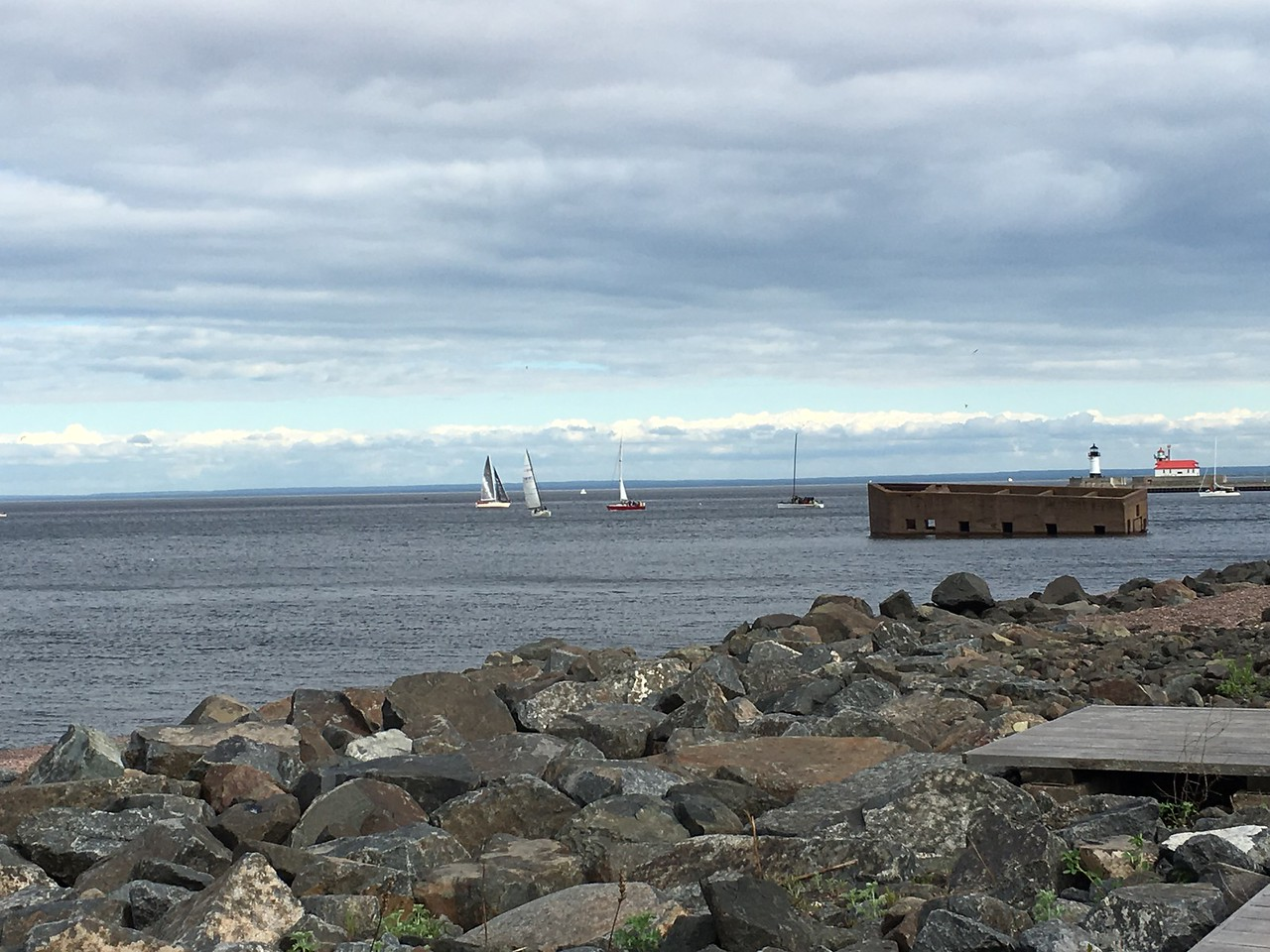 Banks of Lake Superior - Duluth Minnesota