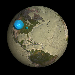 Water on Globe