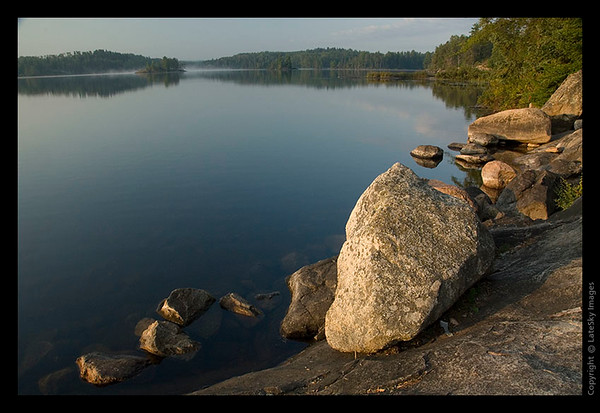 117 Rocks Along Shoreline