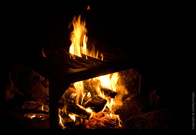 228 Burning Campfire