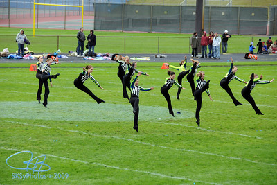Leaping Kixters at halftime.