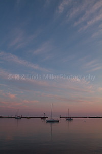 Cook County, MN, Grand Marais, Sunset on Sailboats and Pierhead Light