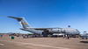 The Boeing C-17 Globemaster transp[ort plane in static ground display at the 2017 Airshow at Duluth, Minnesota, USA.