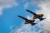 The Blue Angels air acrobatic team at the 2017 Airshow in Duluth, Minnesota, USA.