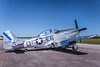 A P-51 Mustang in static ground display at the 2017 Airshow in Duluth, Minnesota, USA.
