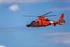 The US coastguard HH-65 air rescue helicopter at the 2017 Airshow in Duluth, Minnesota, USA.