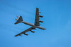 The Mighty Buff Boeing B-52 Stratofortress bomber in flight at the 2017 Airshow in Duluth, Minnesota, USA.