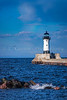 The harbor lighthouse in Duluth, Minnesota, USA